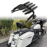 Fits 2021 Touring FLH Street Glide Special FLHX Detachables Two-Up Luggage Stealth Rack For Harley 09-20 Road King FLHR Tour Pack Mount 19 CVO Road Glide FLTRX 18 Electra Glide Ultra Limited FLHTK