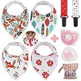 Idefair(TM) Baberos bandana bebé ,Juego de baberos para niñas y niños paquete...