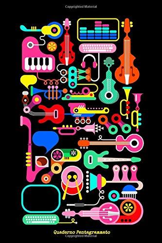 Quaderno pentagrammato - Pentagramma per musica a quaderno, 110 pagine 15,24 x 22,86 cm
