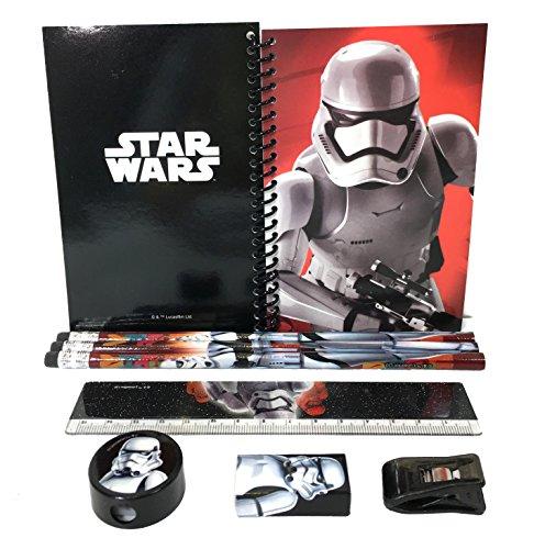 Disney Star Wars 'The Force Awaken' Storm Trooper Stationary Kit - Black