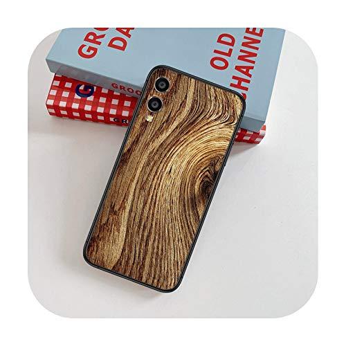Tablero de madera Árbol Arte 3D Teléfono Case Para Huawei Honor 6A 7A 7C 8 8A 8X 9 9X 10 10i 20 Lite Pro Play Negro Bumper Fashion Back-13-Honor 7A 5.45