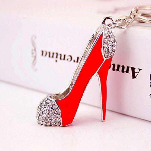INEBIZ Kreative sexy High Heels Schlüsselanhänger exquisite Tasche Anhänger für Frauen Mädchen Auto Innenausstattung Ornamente (rot)
