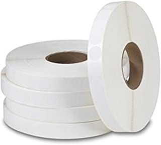 """1.5"""" Round White Litho Paper Tabs / Wafer Seals - Roll of 5,000"""