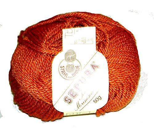 SEPURA Seide mit Merinowolle 50g F.4623 Terracotta - Stahlsche Wolle