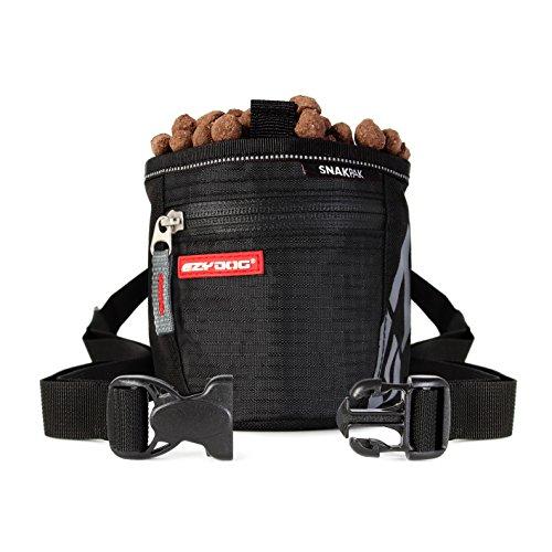 EzyDog SnakPak Wearable Dog Treat Bag Training Pouch with Belt (Black)