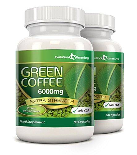 Evolution Slimming 2000mg Grüne Kaffeebohnenextrakt 90 Kapseln