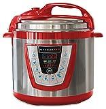 10-in-1 PressurePro 6 Qt Pressure Cooker - Multi-Use Programmable Pressure Cooker, Slow Cooker, Rice Cooker, Steamer, Sauté and Warmer - Red