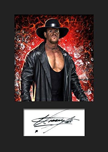 The Undertaker WWE #3 | Signierter Fotodruck | A5 Größe passend für 6x8 Zoll Rahmen | Maschinenschnitt | Fotoanzeige | Geschenk Sammlerstück