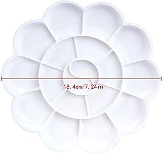 Bianco Justdodo Tavolozza di plastica di Disegno del Piede Tavolozza di plastica di Disegno di plastica del Vassoio del Disegno di plastica per Pallet di Pittura Bianco dellacquerello dellolio