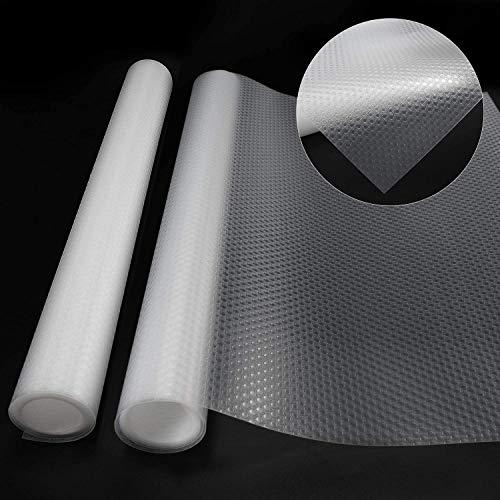 POVAD Schubladenmatte, 2 Rolle, Transparent Zuschneidbar, Antirutschmatte Schubladen, Antirutschfolie Schubladeneinlage, Antirutschmatte Küche (150 × 40cm, 2 Rolle)