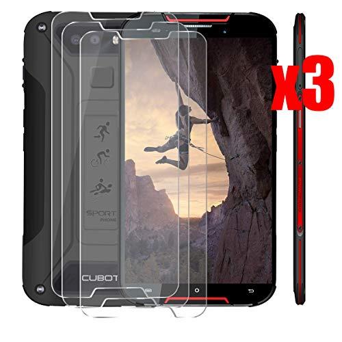 QFSM 3 Pack Película Protectora para CUBOT Quest Lite 2019, Resistente al Desgaste Protector de Pantalla para teléfono móvil Vidrio Templado