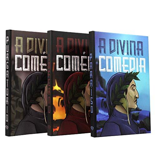 Kit 3 Livros - A Divina Comédia   Dante Alighieri   Capa Dura