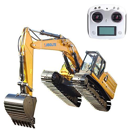 Bulokeliner Técnica 1:16 2.4 Simulación de accionamiento hidráulico RC, excavadora para excavadora de vehículos de aleación compatible con Lego.