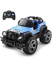 DEERC ラジコンカー こども向け オフロード RCカー 1/18 操作時間80分 2.4GHz リモコンカー 子供向け 防振 おもちゃ プレゼント 贈り物 DE42