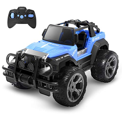 DEERC DE42 RC Car, For Kids, Off-Road, Popular, RC Car, 1/18, Operation Time, 80 Minutes, 2.4 GHz, Remote Control Car, For Kids, Anti-Vibration, Toy, Gift