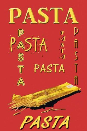 "Pasta Spaghetti Italia Italy Italian Kitchen Food 12"" X 16"" Image Size Vintage Poster Reproduction, We Have Other Sizes Available on Amazon"