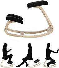 Home Office Furniture Wooden Kneeling Chair, Ergonomic Rocking Balans Posture Correcting for Man/Woman, Best Gift,Black