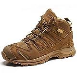 NANFAN Zapatos De Montañismo Al Aire Libre Botas Militares Tácticas Botas Marinas Bota Combate del Desierto Corte Medio para Hombre Deportes Acampada,Brown-40