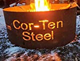 "Cor-Ten Weathering Steel Fire Pit Campfire Ring 30"" Diameter"