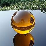 CROSYO 1 Set de 30 mm-100mm Amber Ball Ball Sphere Cristal CURANDO CURANDO Bola Redonda for LA DECORACIÓN del HOGAR Feng Shui Bolas (Color : 70mm, tamaño : No Base)