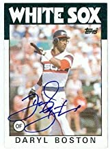 Daryl Boston autographed baseball card (Chicago White Sox) 1986 Topps No.139