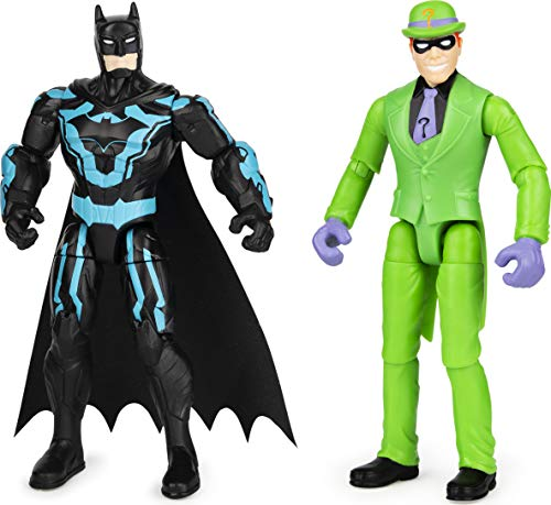 DC Comics Batman 4-inch Batman and The Riddler Action Figures with 6 Mystery Accessories, Kids Toys for Boys Aged 3 and up