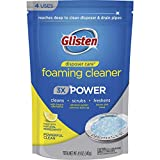 Glisten Disposer Care Foaming Drain/Pipe Cleaner, 4.9 Ounce, 4 uses, White, Blue, 4 per...