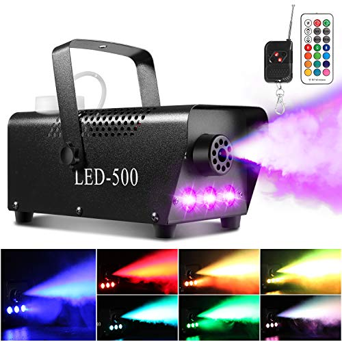 Upgraded Fog Machine, AGPtEK Smoke Machine with 13 Colorful LED Lights and...