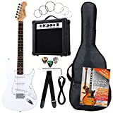 Rocktile Banger's Pack - Set de 7 piezas con guitarra eléctrica, color blanco