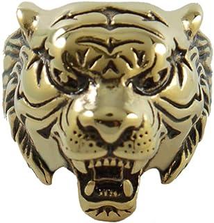 خواتم النمر الذهبي من ميني جيوليري للرجال بتصميم حيوان خواتم فريدة ورائعة للرجال والنساء هدية للأب والأخوة