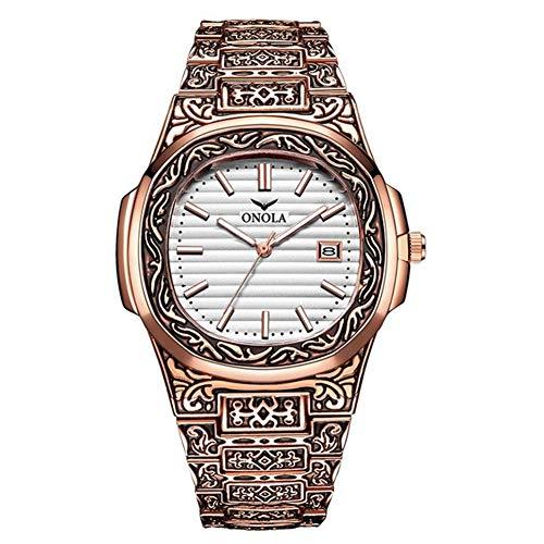 Klassieke mode herenhorloge goud klassiek polshorloge waterdicht goud fashion casual herenhorloge