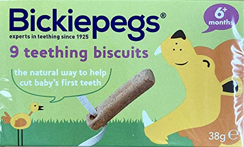 Bickiepegs Natural 9 Teething Biscuits for Babies , 38 gm (Packaging May Vary)