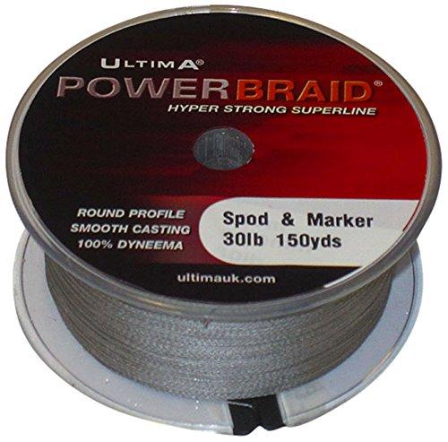 Ultima Unisex Power Spod & Marker Specialist Braid zum Wurfen von Spots und Markerschwimmern, Grau, 9,4 kg