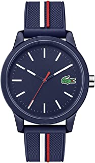 Lacoste Men's Lacoste.12.12 Quartz Watch with Silicone Strap, Multiple Color, 20 (Model: 2011070)