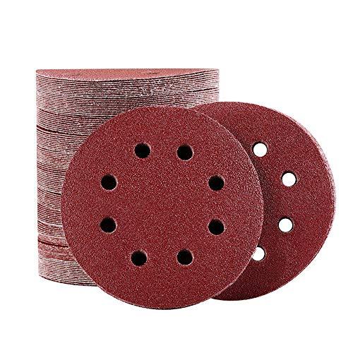 KZKR 85 Pcs Schleifscheiben Klett Schleifpapier Set | 40-3000 Körnung | Ø 125 mm Klett Schleifpapiere Schleifblätter für Exzenterschleifer 8 Loch