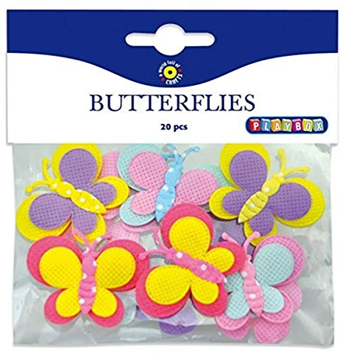 Playbox Stoff Schmetterlinge Schnittmuster Anhänge, Mehrfarbig, 20