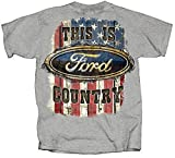 Joe Blow Ford Country American Flag T-Shirt-medium