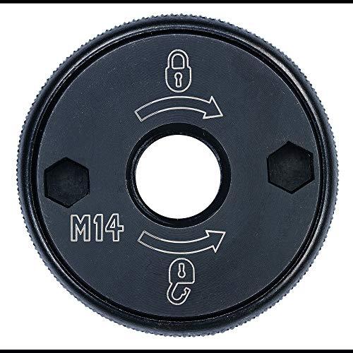 Dewalt DT3559-QZ DT3559-QZ-Tuerca de sujeción rápida M14 para Amoladora, Negro, Set de 6 Piezas