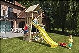 Spielturm Belvedere - Blue Rabbit 2.0 - Podesthöhe 120cm mit Rutsche 240 cm Pfosten 9x9cm