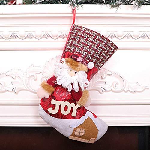 Christmas Santa Claus Snowman Socks Toy Doll Christmas Pendant Plush Fireplaces Ornaments Christmas Decorations Gift Bag, Cute Handmade Holiday Figurine Decorative Window Toys