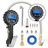 WYNNsky Digital Tire Pressure Gauge 200 PSI and Compressor Accessories Heavy Duty Inflator