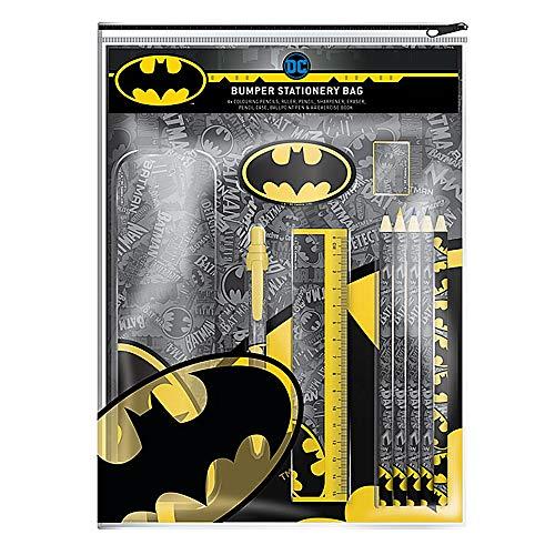 Echte DC Comics Batman Logo Bumper Schreibwaren Set Bleistift Stift Buch Radiergummi