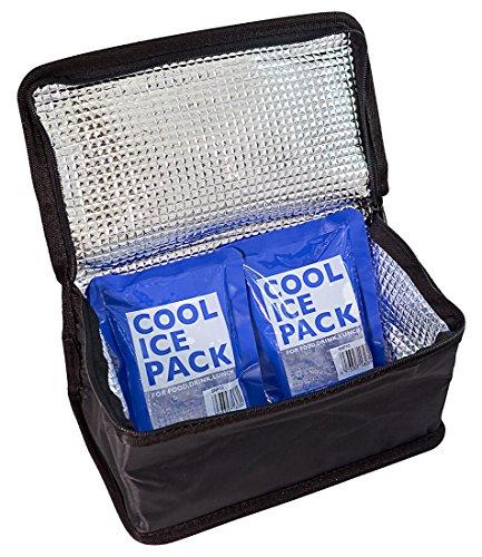 スケーター 保冷 ランチバック 2段 弁当箱 650ml~950ml用 保冷剤 2個付 KB52