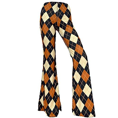 Pantalones bohemios para mujer con cintura elástica y pierna ancha para Harem Bell para mujer Y2k, leggings bohemios E-Girl Y2k Streetwear