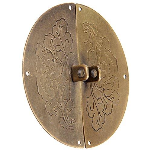 Dophee Retro Kit de cerradura de manija aldaba chino viejo estilo Muebles decorativos herrajes Puerta cerradura Pestillo