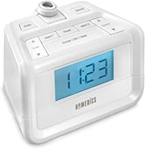 Dual Alarm Digital FM Clock Radio | Time Projection , 8 Relaxing Nature Sounds , LED Display , Multi-Alarm | Snooze , Slee...