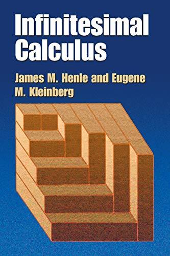 Infinitesimal Calculus (Dover Books on Mathematics)