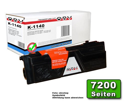 OBV kompatibler Toner ersetzt Kyocera TK-1140, FS 1035 / 1135, schwarz, 7200 Seiten