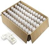 Paquete de 60 botellas de plástico transparente rellenables con tapa abatible para champú desinfectante de manos, loción de champú, etc. Sin BPA/parabenos, 60 ml