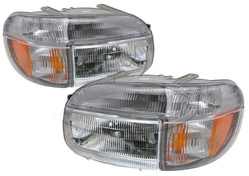 Holiday Rambler Endeavor 1998-2001 RV Motorhome 4 Piece Set Left & Right Replacement Front Headlights & Signal Lights